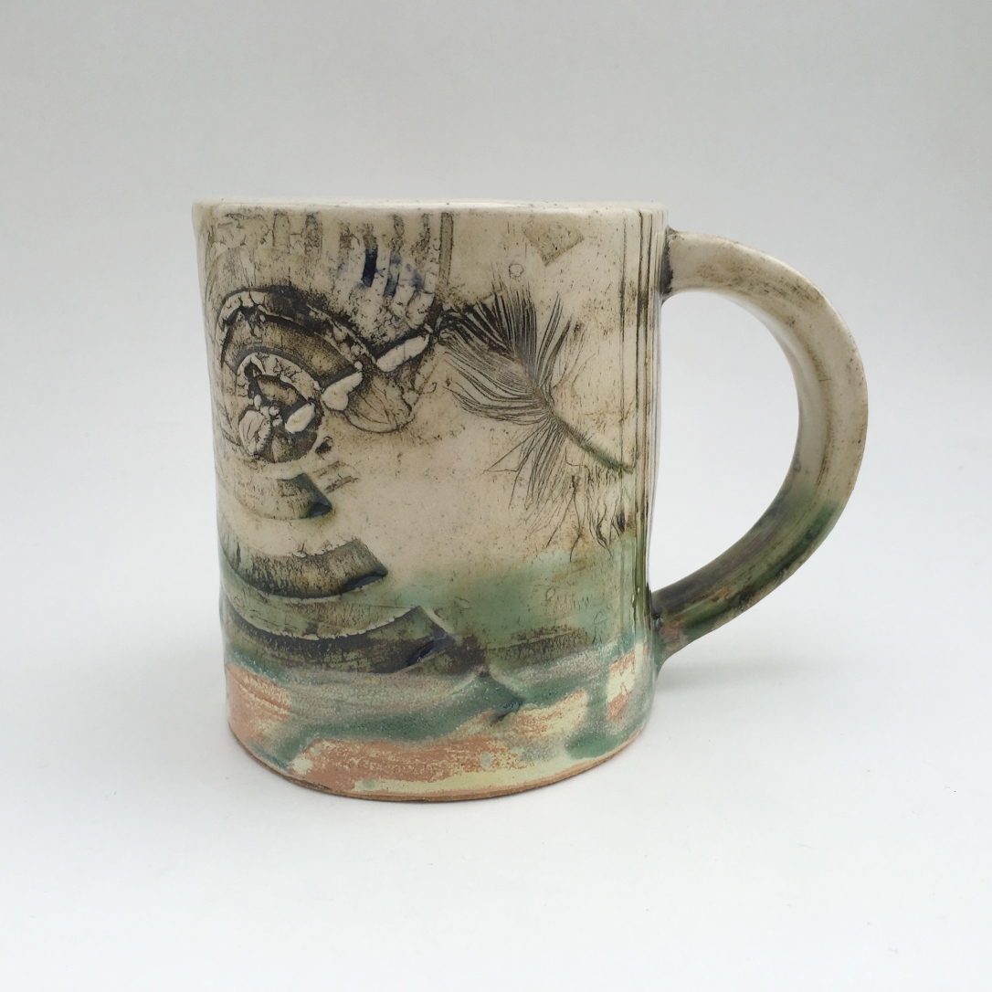 6) Katy Kestler Feather and Texture Mug